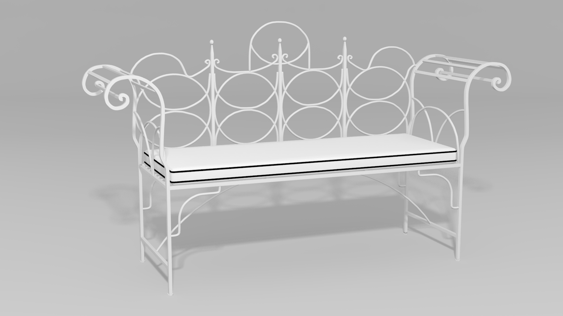 Chateau Wire Bench - O\'Brien Ironworks