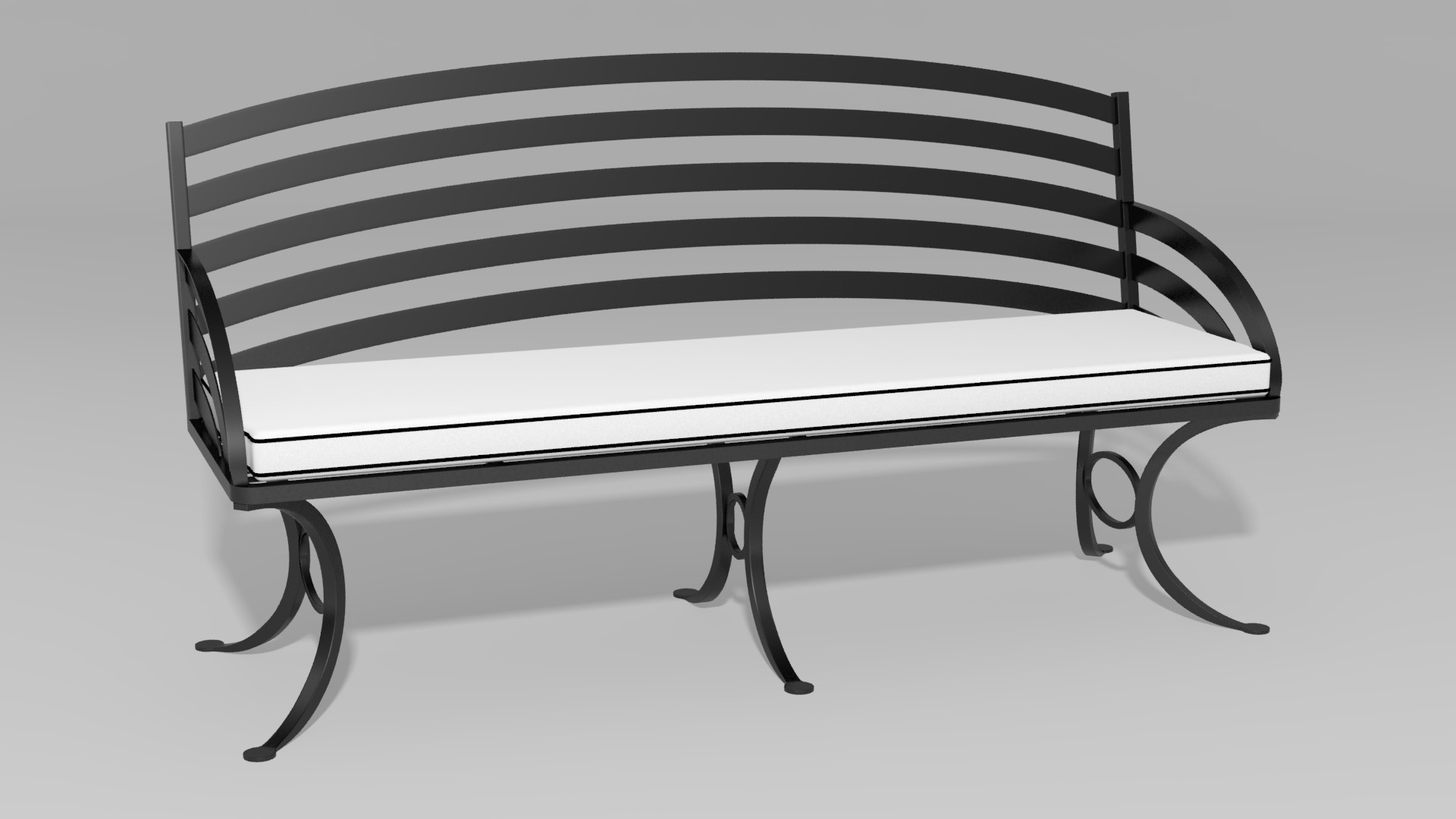 Terrific Chinese Chippendale Backless Bench Obrien Ironworks Pabps2019 Chair Design Images Pabps2019Com